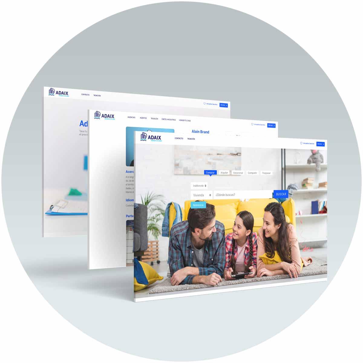 web agencia inmobiliaria Adaix