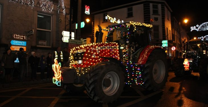 Pics: Tractors with Christmas lights wow crowds at parade in the west