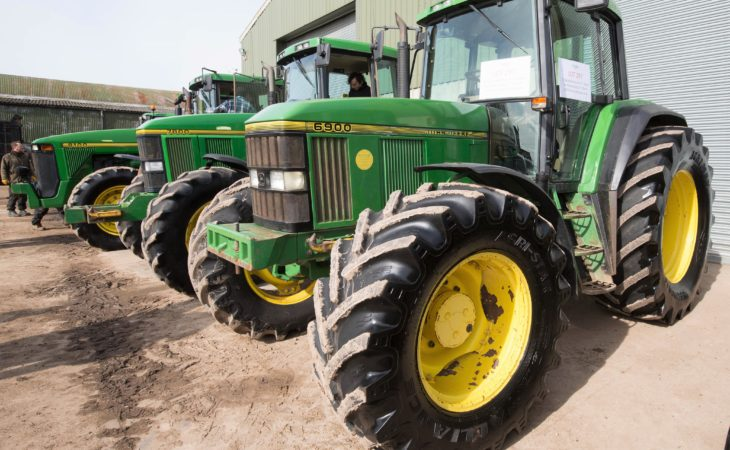 Auction report: 'One-owner' tractors and combine 'under the hammer'