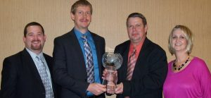 Chairman's Award 2011, presented to Dustin Jarshaw