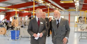 HRH Prince Michael of Kent tours and officially opens the new facility at Harwin