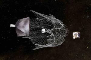 CubeSat removing space junk