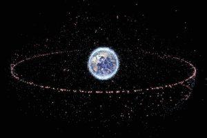 Space debris map