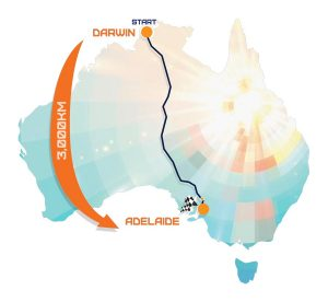 Map of Australian route
