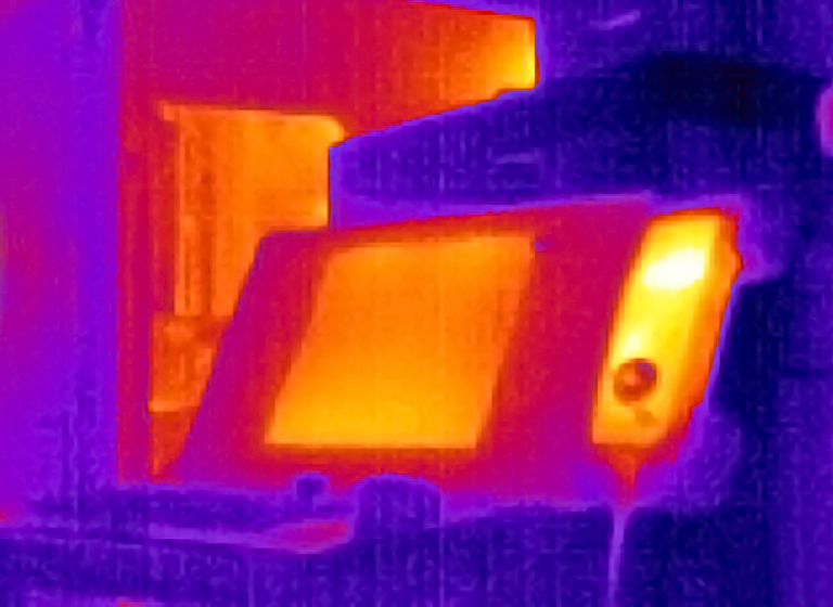 Thermal image of production machinery
