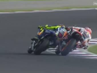 Caida Marc Marquez Valentino Rossi GP Argentina