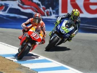 Marc Márquez Valentino Rossi Laguna Seca MotoGP 2013Motorbike Magazine
