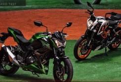 Comparativa Kawasaki 300 KTM Duke 390