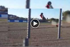 Caida Pirro Jerez MotoGP 00