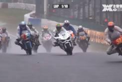 Kawasaki H2R vs Superbikes 1980 carrera 004