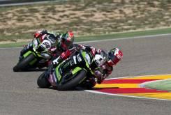Jonathan Rea Tom Sykes Kawasaki WSBK Aragón 2016 - Motorbike Magazine