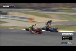 Caida Jorge Lorenzo Andrea Iannone Montmelo MotoGP 2016 04