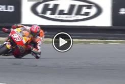 Caida salvada Marc Marquez   FP2 Brno 2016   14