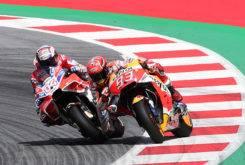 Andrea Dovizioso duelo Marc Marquez MotoGP Austria 2017