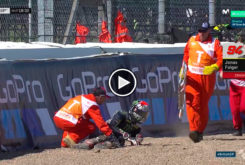 Jonas Folger Caída Warm Up Silverstone 2017