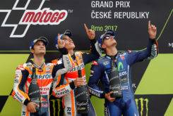 Podio MotoGP Brno 2017 Honor Angel Nieto