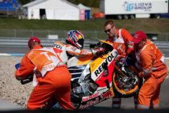 Dani Pedrosa caida MotoGP 2017