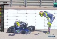 Valentino Rossi caida Test Valencia MotoGP 2018 15