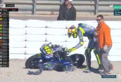 Valentino Rossi caida Test Valencia MotoGP 2018 16