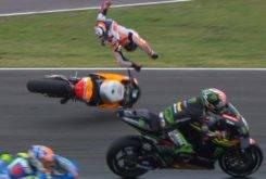 Dani Pedrosa Johann Zarco caida GP Argentina 2018