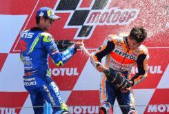 Alex Rins Marc Marquez podio MotoGP Assen 2018