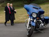 President Trump Has Lunch With Harley Davidson Executives And Union Reps