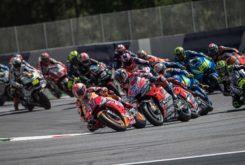 Marc Marquez Andrea Dovizioso salida MotoGP Austria 2018