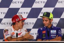 Valentino Rossi Marc Marquez MotoGP Misano 2018