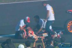 Marc Marquez hombro celebracion MotoGP Japon 2018
