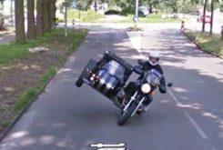 Google Maps Street View sidecar stunt
