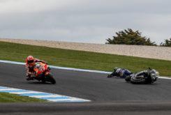Caida Maverick Vinales MotoGP Australia 2019