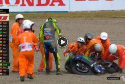 Valentino Rossi caida MotoGP Japon 2019