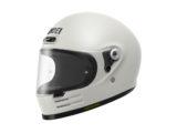 Shoei glamster casco moto blanco