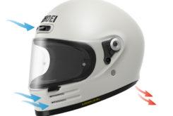 Shoei glamster casco moto ventilacion