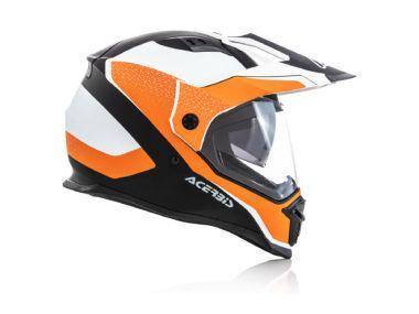 Acerbis Reactive Graffix naranja lateral