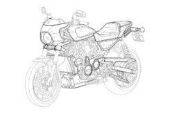 Harley Davidson Cafe Racer boceto