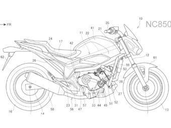 Honda NC850S 2021 patentes filtradas