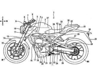 Honda CB125R electrica Patente filtrada