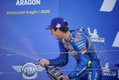 Joan Mir podio MotoGP Aragon 2020 lider