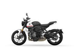 Triumph Trident 2021 colores Crystal WhiteLHS