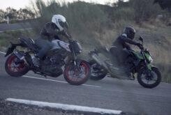 Yamaha MT 03 2020 vs Kawasaki Z400 2020 prueba 11