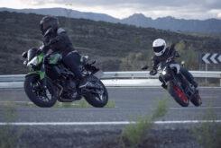 Yamaha MT 03 2020 vs Kawasaki Z400 2020 prueba 7