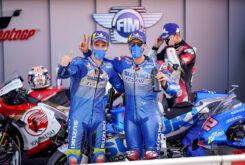 Alex Rins Joan Mir podio Suzuki Valencia (3)