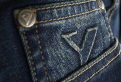 Pantalones moto ByCity Tejano III stone detalle