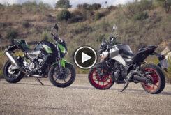 Yamaha MT 03 2020 vs Kawasaki Z400 2020 play