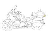 Honda Goldwing radar trasero