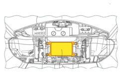 Honda Goldwing radar trasero plano