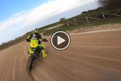 Video onboard circuito VR46 Flat track Rancho Valentin Rossi 9 copia
