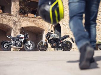Honda CB650R Triumph Trident 660 2021 3