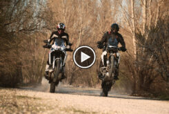 Honda CRF1100L Africa Twin 2021 Triumph Tiger 900 Rally Pro comparativa 2021 play